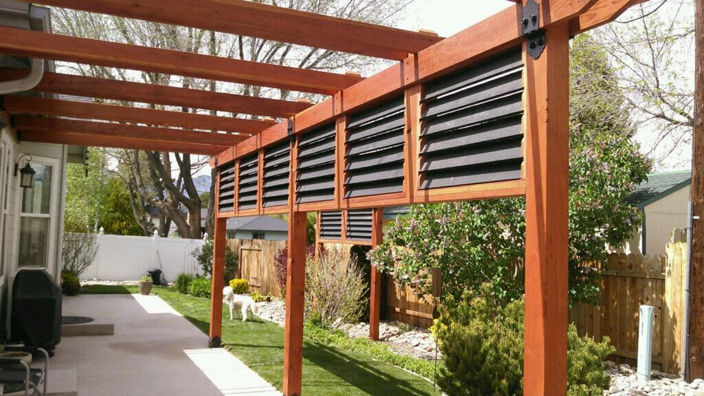 Pergola screening ideas outdoor goods for Backyard screening ideas