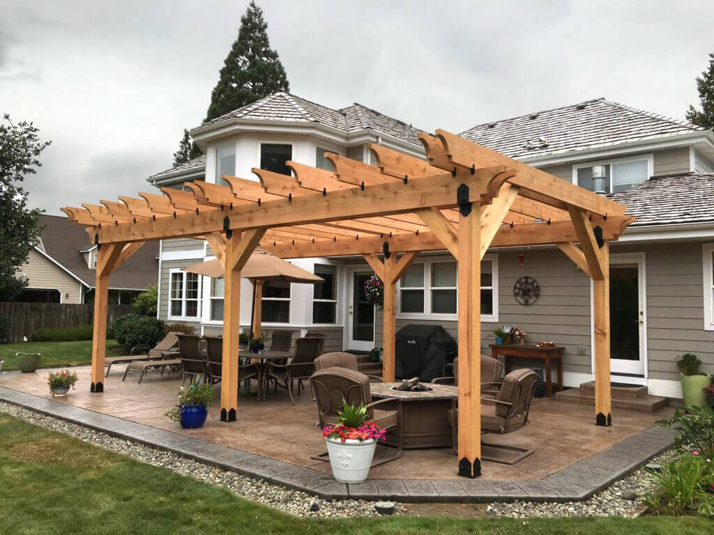 The Best Pergola Decorating Ideas Vines Fabric and Decorative Hardware Spruce Up a Bare Pergola & The Best Pergola Decorating Ideas: Vines Fabric and Decorative ...