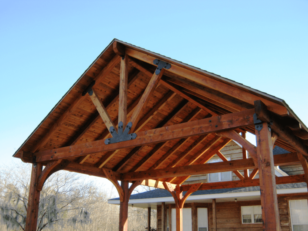 Your pavilion roof truss design will depend on the pitch of your roof.