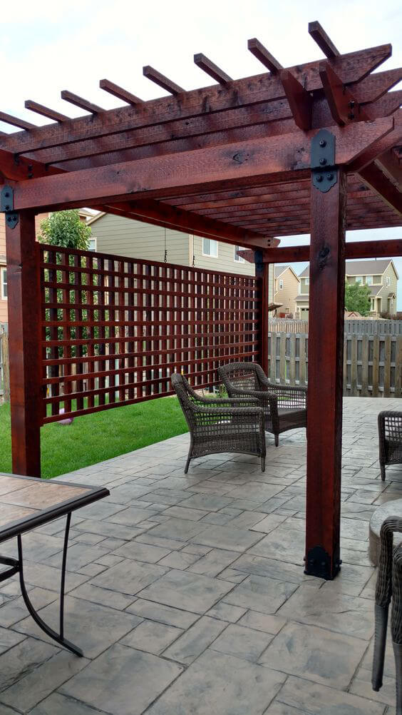 An Asian Inspired Pergola Design Complements Simple Garden
