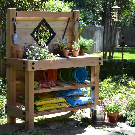 ozco-Simple Garden Bench Design Ideas to Improve Your Yard