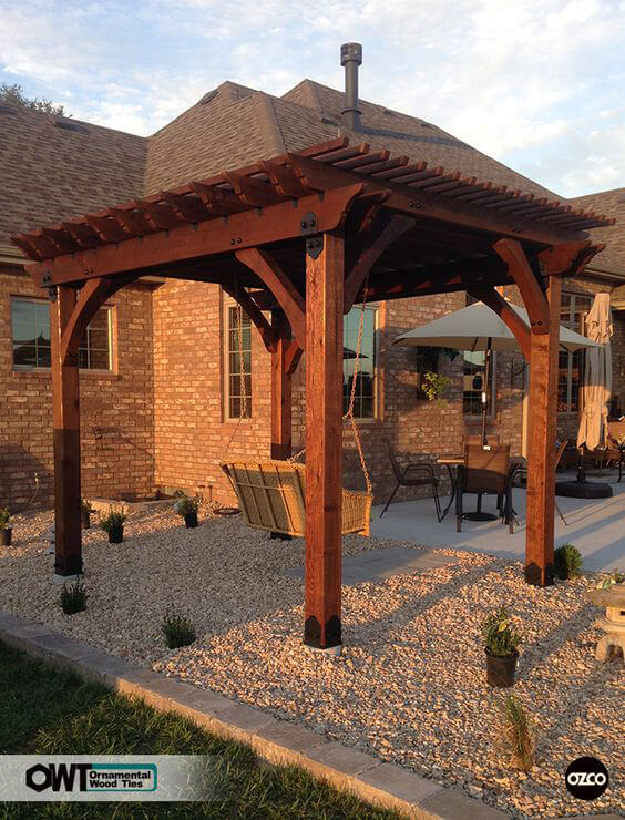 ozco-Pergola Swing Ideas for an Easy DIY Project