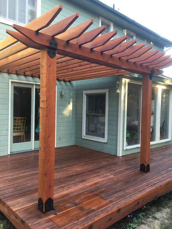 Figuring out pergola rafter spacing requires a few basic tricks.