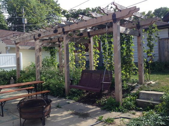 Backyard grape arbors aren't hard to built and can take many shapes.