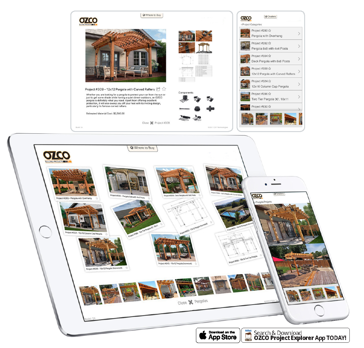 """MiTek and OZCO, the Leader of the Ornamental Wood Ties Hardware Category, Launch New """"Project Explorer"""" App"""