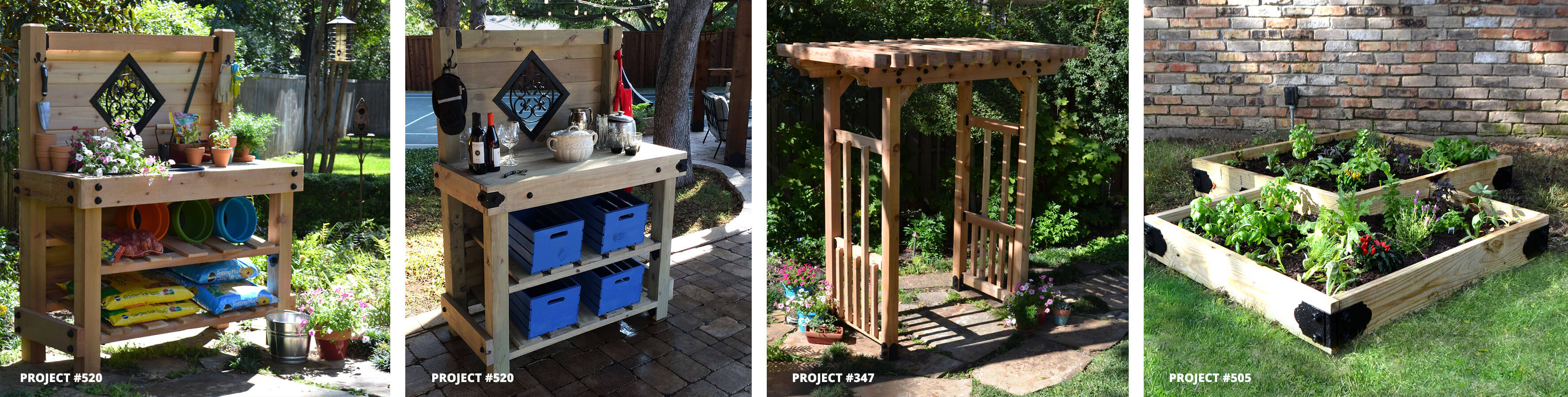 Garden Projects Buffet Potting Table Arbor Raised Bed
