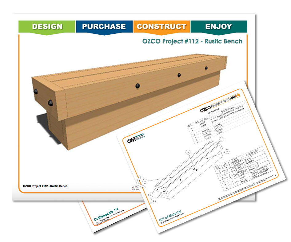 Project Plan Outdoor Seating Rustic Bench