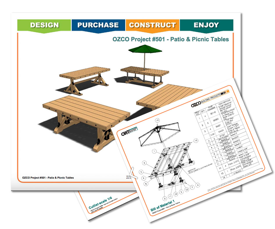 Project Plans Outdoor Seating Patio Tables