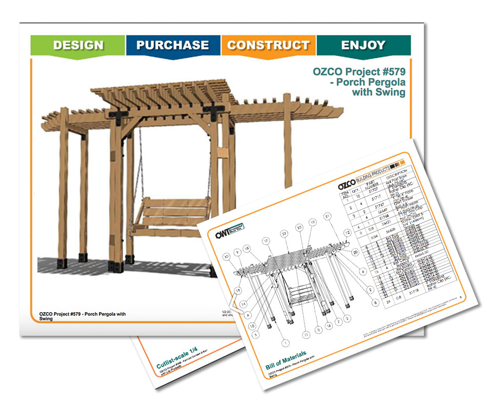 Project Plan Outdoor Seating Patio Swing Arbor