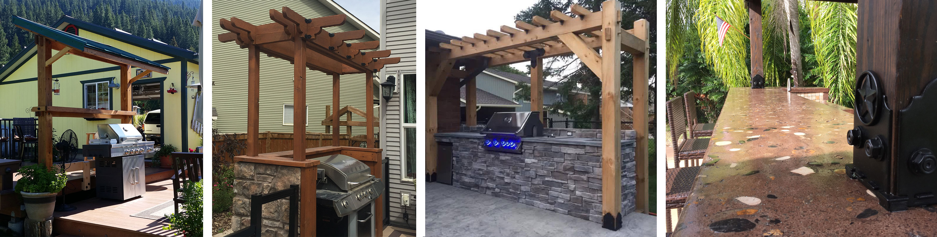 Barbecue Shelter Grill Outdoor Kitchen Project Plans